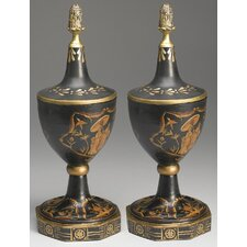Asian Decorative Urn (Set of 2)