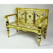 <strong>AA Importing</strong> Floral Painted Bench