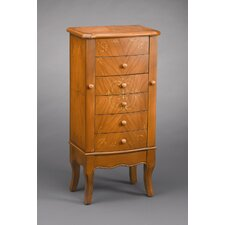 Five Drawer Armoire in Light Brown