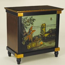 <strong>AA Importing</strong> 3 Drawer Chest with Painted Parrot Scene