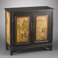 <strong>AA Importing</strong> 2 Door Cabinet with Oriental Lady Design