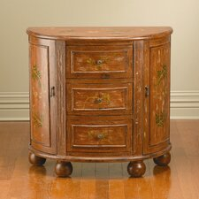 3 Drawer 2 Side Door Console Cabinet