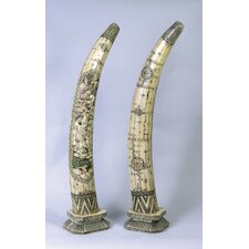 Faux Elephant Tusks Statue (Set of 2)