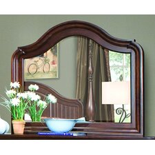 Provence Cottage Arched Dresser Mirror with Hardware