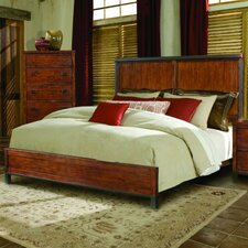 Rustic Lodge Panel Bed