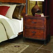 Rustic Lodge  2 Drawer Nightstand