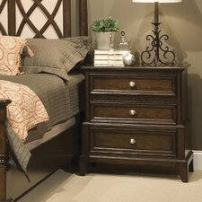 Jackson Square 3 Drawer Nightstand