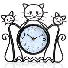 Silhouette Cat Table Clock