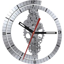 "Oversized 24"" Moving Gear Wall Clock"