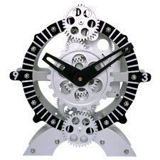 "<strong>Maples Clock</strong> 8.7"" Moving Gear Desktop Clock"