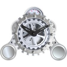 "6"" x 7"" Moving Gear Desktop Clock with Alarm"