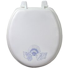Magnolia Embroidered Round Toilet Seat