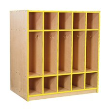 Double-Sided Locker with Top and Bottom Cubbies