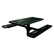 Single Pedestal Inground Picnic Table with Diamond Pattern