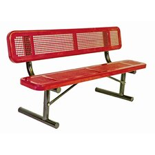 Perforated Pattern Stainless Steel Bench