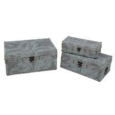 3 Piece Burlap Trunks Set