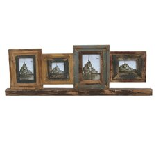 <strong>Privilege</strong> 4 Photo Reclaimed Wood Picture Frame