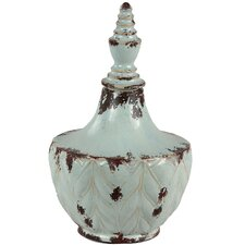 Wide Ceramic Urn Vase