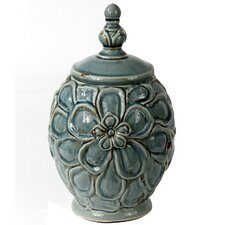 Vintage Crackle Lidded Decorative Canister