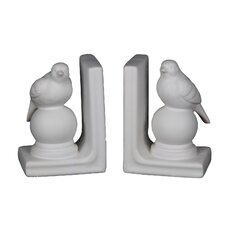 Bird on Ball Ceramic Book Ends (Set of 2)