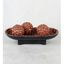 Decorative Bowl and Sphere Set