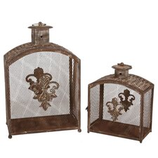 2 Piece Iron Lantern Set
