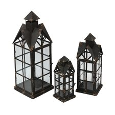 <strong>Privilege</strong> 3 Piece Iron Lantern Set