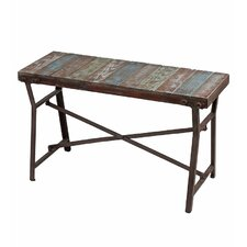 Iron and Wood Garden Bench