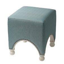Chic Ottoman with Nail Head
