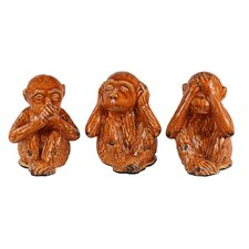 3 Piece Hear, See, Speak No Evil Monkeys Figurine