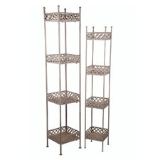 2 Piece Iron Racks Set