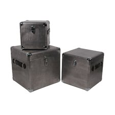 3 Piece Aluminum Trunks Set