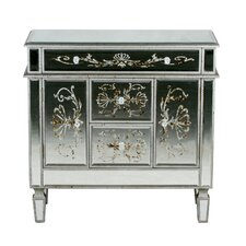 3 Drawer 2 Door Mirrored Chest