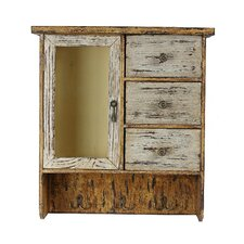 1 Door 3 Drawer 3 Hook Wall Cabinet