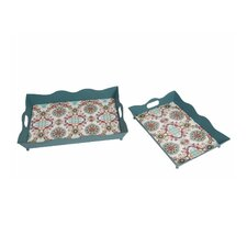 2 Piece Iron Tray Set