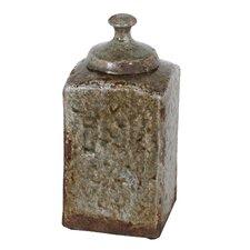 Ceramic Lidded Decorative Canister
