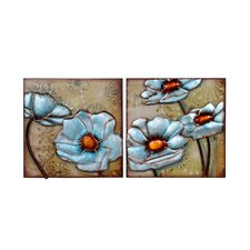 2 Piece Floral Wall Frames Set