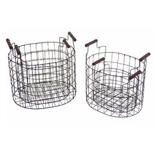 4 Piece Round Basket Set