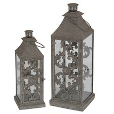 <strong>Privilege</strong> 2 Piece Metal Lantern Set