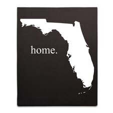 Home State Graphic Art on Canvas