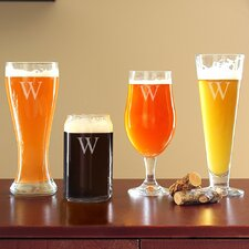 4 Piece Personalized Specialty Beer Glasses Set