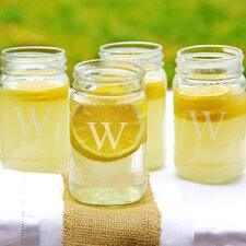 Personalized 16 oz. Mason Jar (Set of 4)