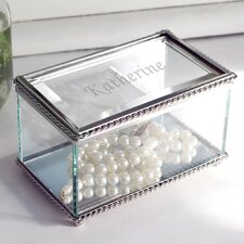 Engraved Beveled Jewelry Box
