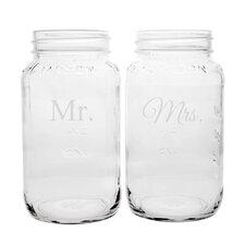 Mr. and Mrs. 26-oz. Ball JarSet of 2)