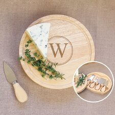 Personalized 5 Piece Gourmet Cheese Board Set