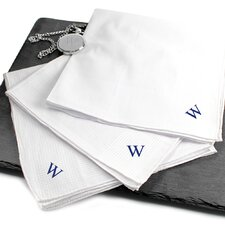 Hand Rolled Men's Personalized Hankies (Set of 3)