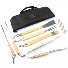 Personalized 11 Piece BBQ Tool Set