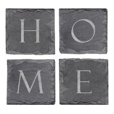 Home Sweet Home Slate Coaster (Set of 4)