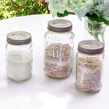 3 Piece Personalized Mason Jar Set