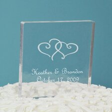 <strong>Cathys Concepts</strong> Personalized Acrylic Square Cake Topper